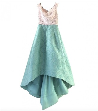 Oscar de la Renta Green Lace Dress for Women
