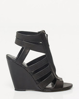 Le Château Leather Caged Wedge