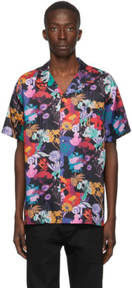 Double Rainbouu Black Hawaiian Short Sleeve Shirt