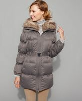 Coat, Down Puffer with Faux Fur Collar