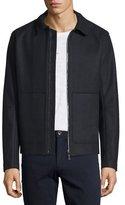 Vince Raw-Edge Zip-Up Utility Jacket