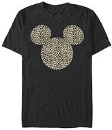 Fifth Sun Tee Shirts BLACK - Black Cheetah Mickey Mouse Ears Tee - Adult
