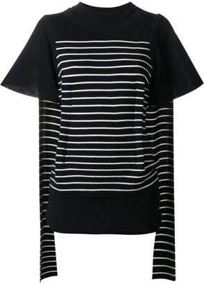 J.W.Anderson double layer-sleeve T-shirt