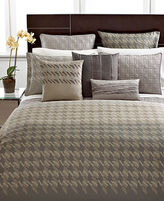 Hotel Collection CLOSEOUT! Bedding, Modern Houndstooth Queen Duvet Cover