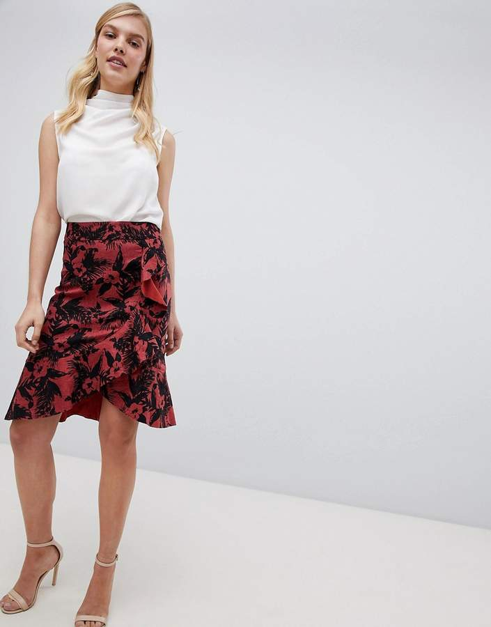 Oasis Havana Printed Pencil Skirt