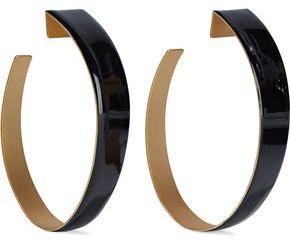 Zimmermann Gold-plated Enamel Hoop Earrings