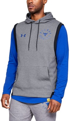 Under Armour Men's Project Rock Double Knit Sleeveless Hoodie