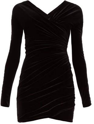 Alexandre Vauthier Sweetheart-neckline Velvet Mini Dress - Black