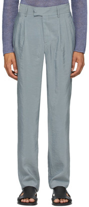 Giorgio Armani Grey Silk Business Trousers