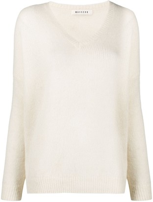 Masscob v-neck oversized jumper