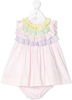 Il Gufo Ruffle Layered Dress