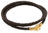 Dark Brown Leather C Clasp Bracelet