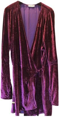 ATTICO Purple Velvet Dresses