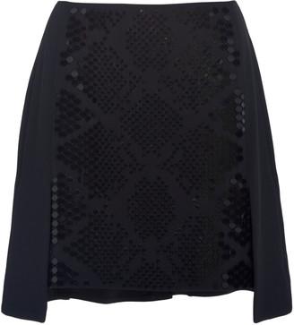 David Koma Plexi Embroidered Mini Skirt
