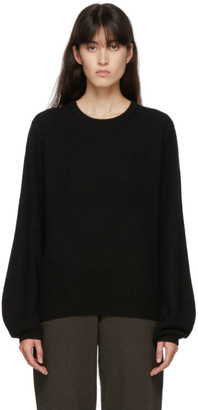 Frenckenberger Black Cashmere Mini R-Neck Sweater