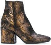 Fausto Zenga snakeskin effect boots