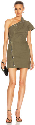 RtA Sivan Dress in Tomboy Green | FWRD
