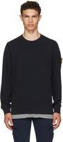 Stone Island Navy Logo Classic Sweatshirt