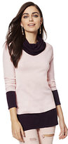 New York & Co. Cashmere Touch Colorblock Cowl-Neck Sweater