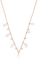Meira T 14K White Gold, White Topaz & 0.15 Total Ct. Diamond Station Necklace