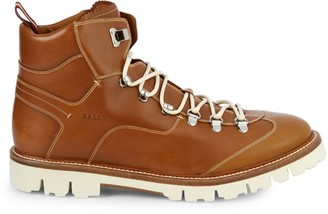Bally Contrast Stitch Leather Boots