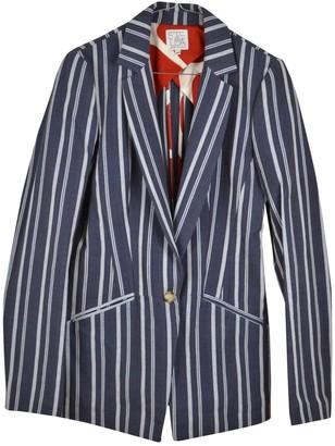 Stella Jean Blue Cotton Jacket for Women