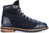 Santoni lamb fur trim high top sneakers - men - Calf Leather/Lamb Fur/Foam Rubber - 7