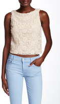 Alice + Olivia Finlay Fitted Crochet Embroidered Tank