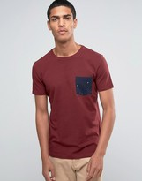 Esprit Crew Neck T-Shirt with Printed Pocket