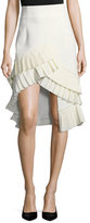 Jacquemus Pleated High-Low Skirt