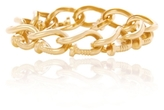 David Webb Hammered Gold Nail Link Bracelet