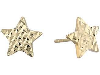 Dee Berkley 14KT Solid Gold Star Stud Earrings