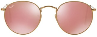 Ray-Ban RB3447 53MM Mirrored Round Sunglasses