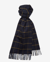 Ted Baker Window Pane Checked Scarf Navy