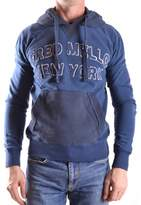Fred Mello Men's Blue Cotton Sweatshirt.