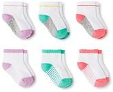 Circo Toddler Girls' Low-Cut Socks 6 pk Multicolored