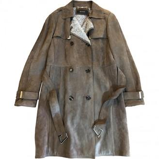 Gucci Khaki Shearling Coat for Women
