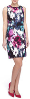 Tahari Print Sheath Dress (Petite)