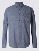 Marks and Spencer Big & Tall Pure Cotton Long Sleeve Checked Shirt