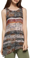BCBGeneration Abstract Print Asymmetric Tunic Tank