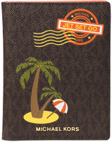 MICHAEL Michael Kors Signature Palm Tree Passport Wallet