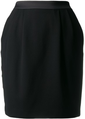 Karl Lagerfeld Paris Satin Trim Skirt