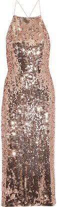 Jason Wu Open-back Sequined Satin Dress