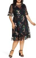 Kiyonna Wildflower Embroidered Dress
