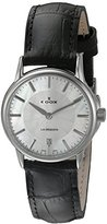 Edox Women's 57001 3 NAIN Les Bemonts Analog Display Swiss Quartz Black Watch