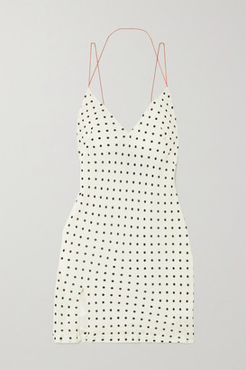 Haider Ackermann Polka-dot Crepe Mini Dress - Ivory
