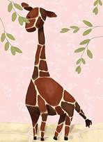 Oopsy Daisy Fine Art For Kids Gillespie The Giraffe Pink by Meghann O'Hara Canvas Wall Art, 10 by 14-Inch