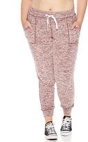 Miss Chievous Fleece Jogger Pants- Juniors Plus
