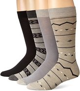 Lucky Brand Lucky Men's 4 Pair Pack Fairisle Crew Socks