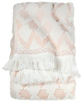 Threshold Finial Hand Towel - Coral/White